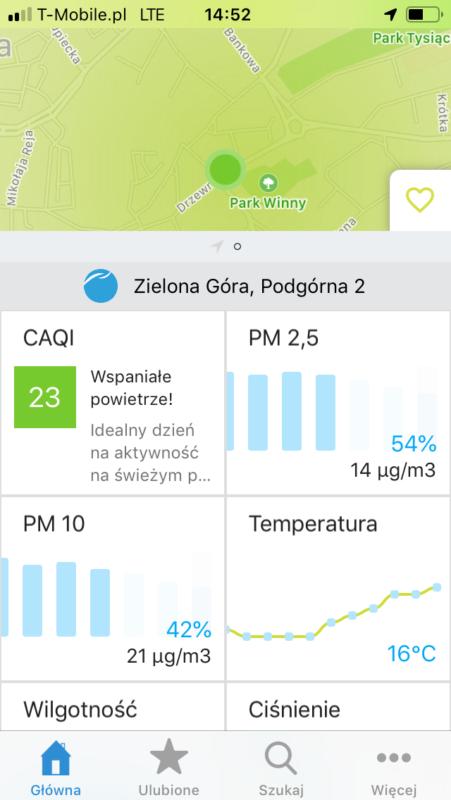 Aplikacja Airly jest śiwetna i intuicyjna.