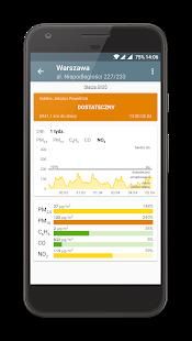 Kanarek to bardzo dobra aplikacja monitorująca stan powietrza.